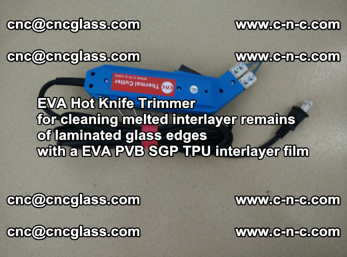 EVA THERMAL TRIMMER cutting overflowed film remains of laminated safety glass EVA PVB SGP TPU (2)