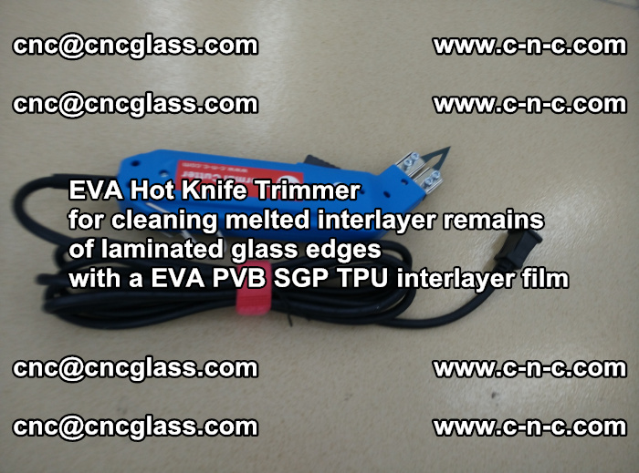 EVA THERMAL TRIMMER cutting overflowed film remains of laminated safety glass EVA PVB SGP TPU (8)